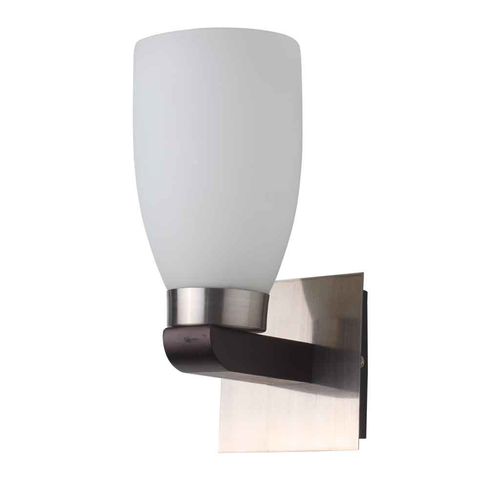 LeArc Designer Lighting Contemporary Glass Metal Wood Wall Light WL1421 eBay