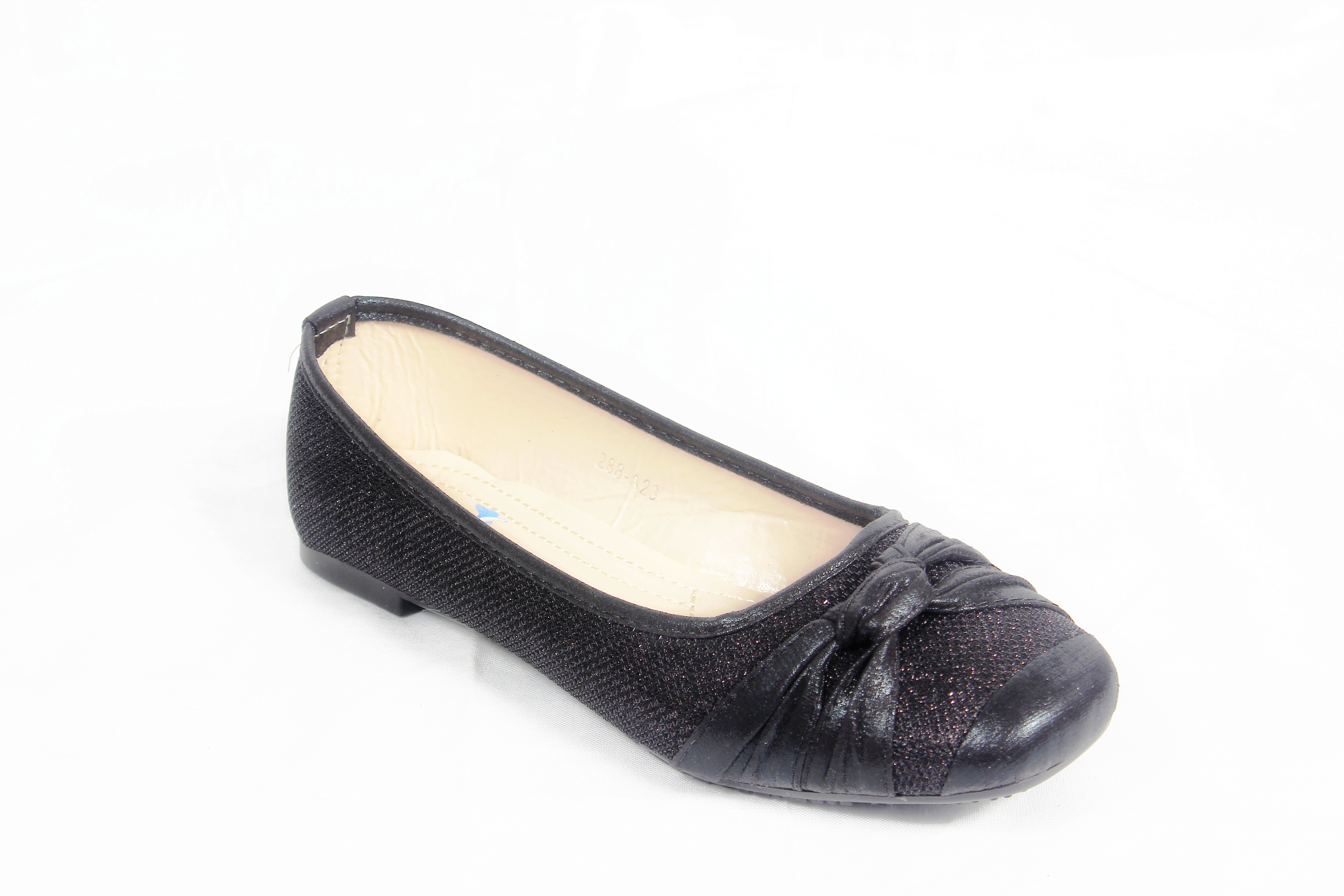 belson spiffy comfortable square toed black flat shoes for