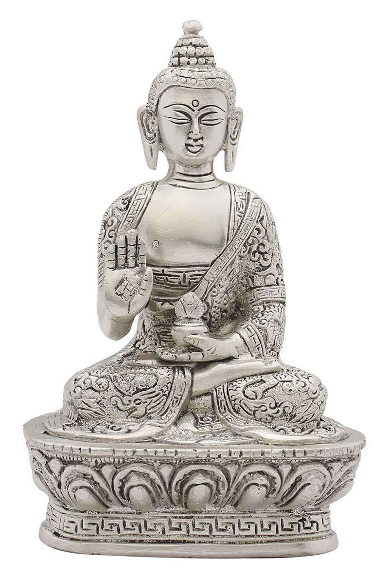 Buddha Statue Silver Color Antique And Home D Cor