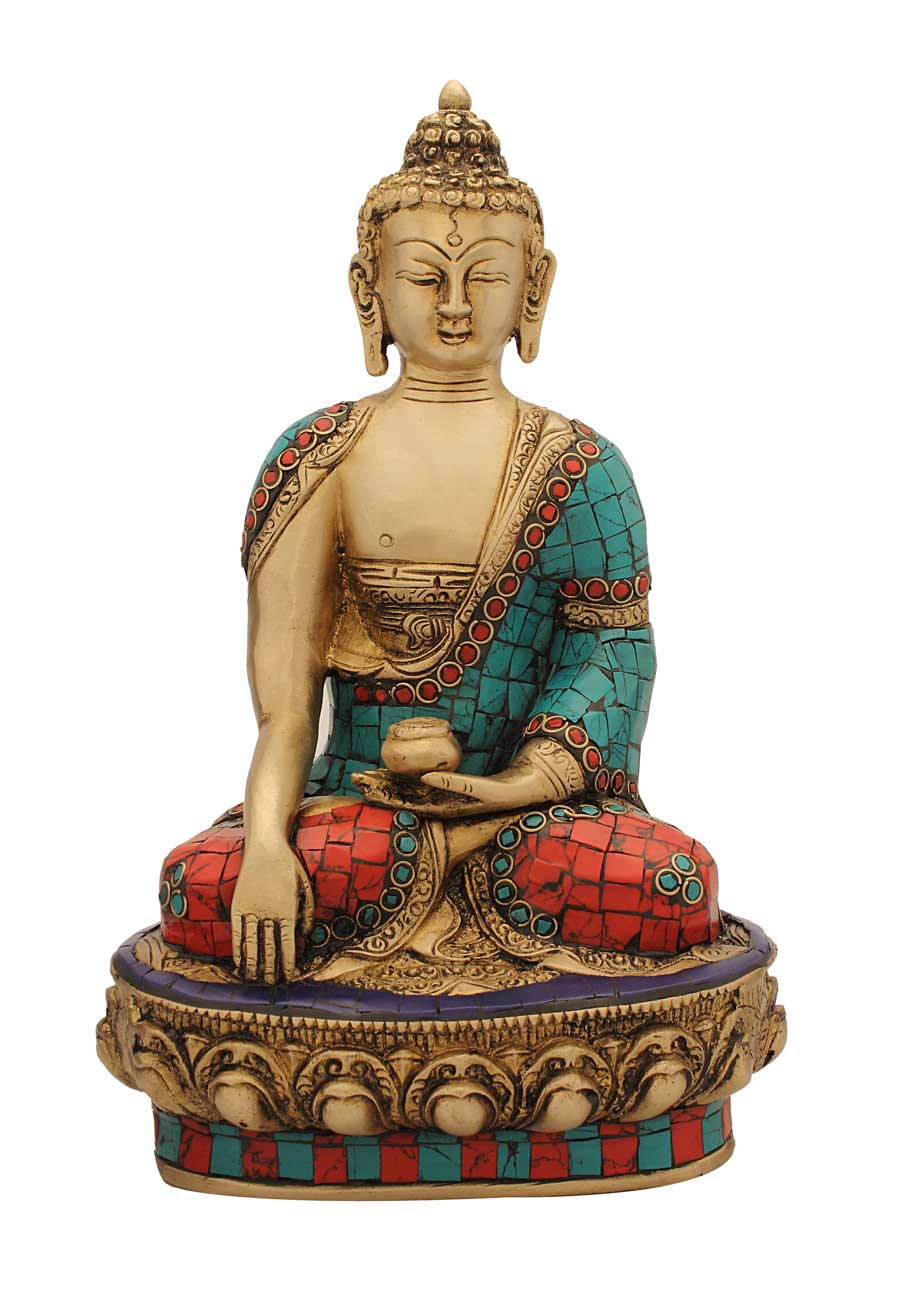 Indian hand crafted buddha bronze buddha statue home for Buddha decorations for the home uk
